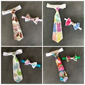 Infant-Youth handmade Easter neck and bow ties